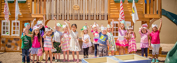 A group of our Pre-K kids having fun in our daycare program.
