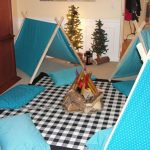 Indoor camping for kids