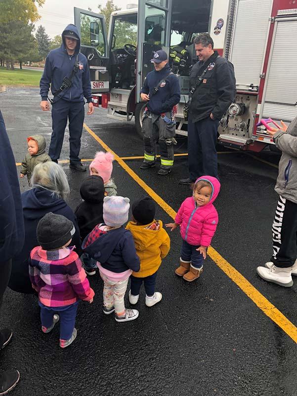 Preschoolers learn about firetrucks_