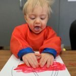 hands on art at daycare center