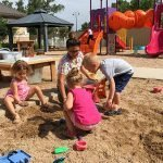 sandbox at busy little hands preschool