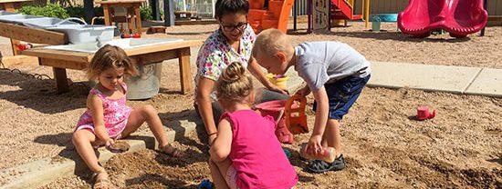 sandbox at busy little hands preschool